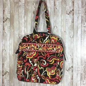 Vera Bradley Tall Zip Tote in retired Puccini